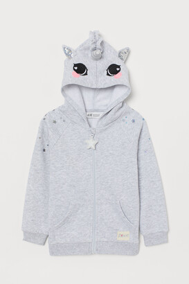 H&M Hooded Jacket with Appliques