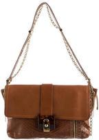 Lanvin Snakeskin-Trimmed Shoulder Bag