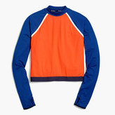 New Balance for J.Crew long-sleeve colorblock crop top