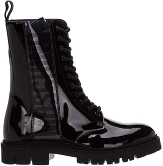 Moschino Lace Up Combat Boots
