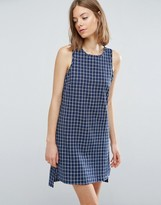 NATIVE YOUTH Crosshatch Tent Shift Dress