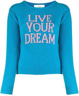 Alberta Ferretti Live Your Dream slim-fit jumper