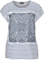 Via Appia Plus Size Print jersey top