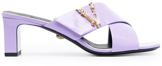 Versace Virtus mule sandals
