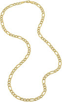 JCPenney FINE JEWELRY Made in Italy 14K Yellow Gold 22 Hollow Figaro Chain Necklace