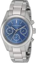 Cabochon Women's 1103 De Ce Monde Analog Display Swiss Quartz Silver Watch