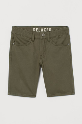 H&M Cotton Twill Shorts - Green