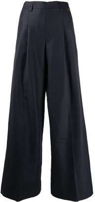 Twin-Set Front Pleat Flared Trousers