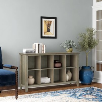 "Three Posts Gosport 57"" Solid Wood Console Table Color: Distressed Gray"