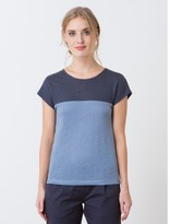 Somewhere Woman's color block linen jersey T-shirt, HENZA