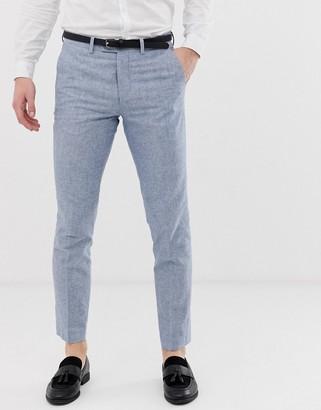 Jack and Jones regular fit suit trouser in blue linen