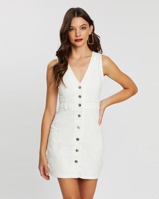 Supre Monica Button-Through Denim Dress