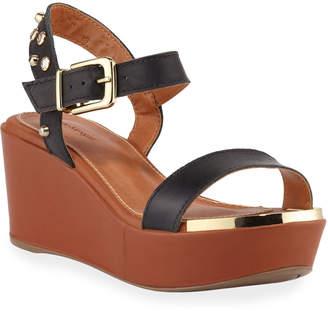Chloé Bruno Menegatti Beaded Jewel Leather Wedge Sandals