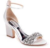 Badgley Mischka Laraine Embellished Satin Sandals