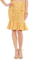 Gianni Bini Michelle Lace Ruffle Skirt