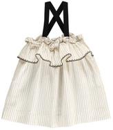 Babe & Tess Sale - Striped Ruffle Dress