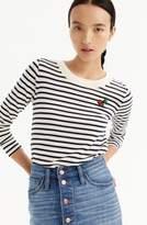 J.Crew J. CREW Stripe Tippi Wool Sweater with Cherry Patch