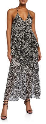 STYLEKEEPERS The Divine Leopard Tiered Ruffle Maxi Dress