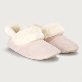 The White Company Cosy Slipper Boots, Pale Pink, 4