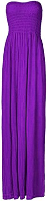 R2 Fashion Ladies Plain Sheering Boob Tube Maxi Dress All Colour And Sizes (16-18