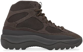 adidas YEEZY brown high top suede desert boot sneakers