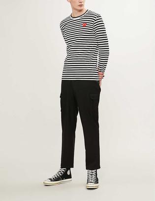 Comme des Garcons Striped cotton jumper