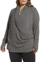 Zella Plus Size Women's Enlighten Me Ribbed Cardigan
