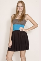 Bailey 44 Corpus Deliciti Dress in Taupe/Ocean/Black