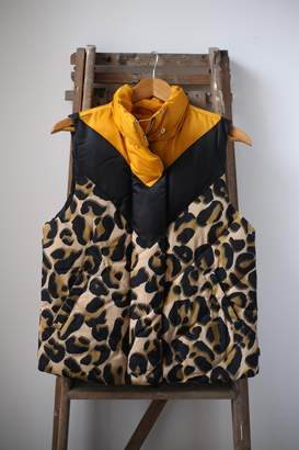 Scotch & Soda Leopard Print Chevron Gilet - M