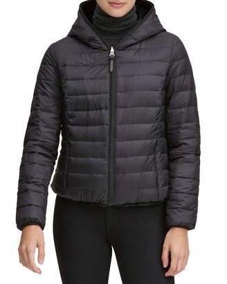 Andrew Marc Reversible Faux-Fur Hooded Puffer Coat