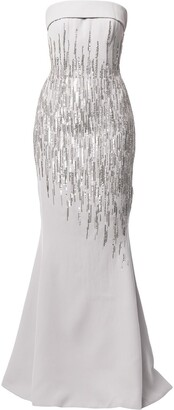 Saiid Kobeisy Sequin-Embellished Mermaid Gown