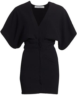 IRO Coudert V-Neck Mini Sheath Dress
