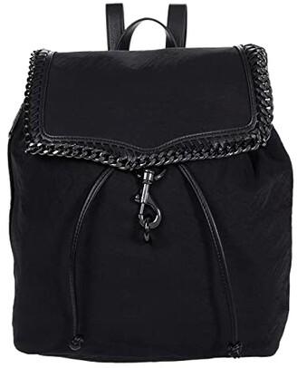 Rebecca Minkoff Woven Chain Backpack (Black) Backpack Bags
