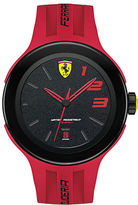 Ferrari Mens Scuderia FXX Black Stainless Steel Red Silicone Strap Watch