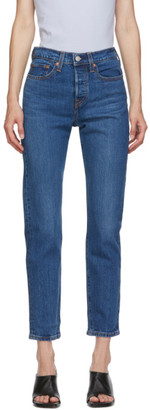 Levi's Levis Blue Wedgie Fit Ankle Jeans