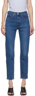 Levis Blue Wedgie Fit Ankle Jeans