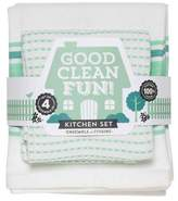 "Now Designs White Kitchen Towel (13""x13"")"