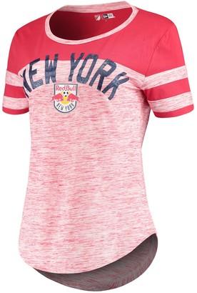 New Era Women's 5th & Ocean by Red New York Red Bulls Space Dye Scoop T-Shirt