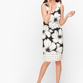 Talbots Bow Detail Shift Dress