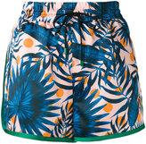 Sjyp botanical print running shorts - women - Polyester - M