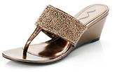 "Nina Nelwina"" Beaded Wedge Sandal"