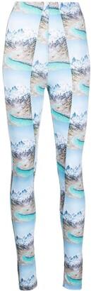MAISIE WILEN Mountain Print High-Waisted Leggings