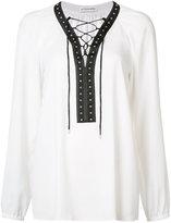 Altuzarra lace-up blouse - women - Polyester - 38