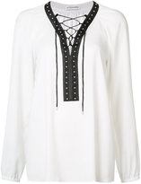 Altuzarra lace-up blouse