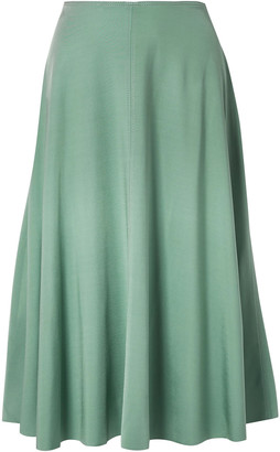Acne Studios Iphy Fluted Stretch-jersey Midi Skirt