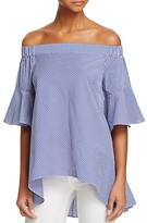 Lucy Paris Greta Gingham Off-The-Shoulder Top