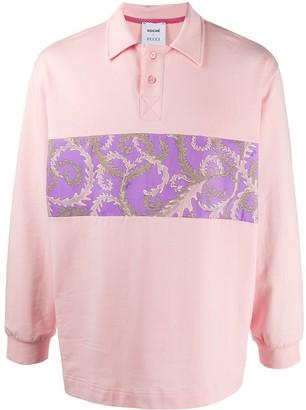 Emilio Pucci Print Longsleeved Polo Shirt