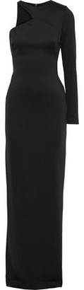 Black Halo Eve By Laurel Berman Opal One-shoulder Stretch-cady Gown