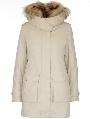 Woolrich Layered Hooded Parka Coat