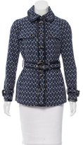Tory Burch Leather-Trimmed Pattern Jacket